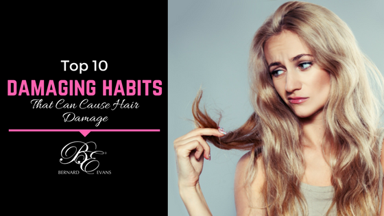 habits that can cause hair damage